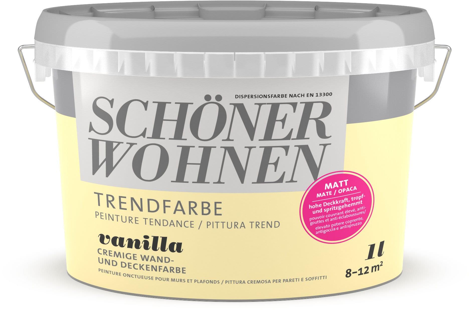Schöner Wohnen Pittura trend OPACA 1L Vanilla Vanilla 1 l
