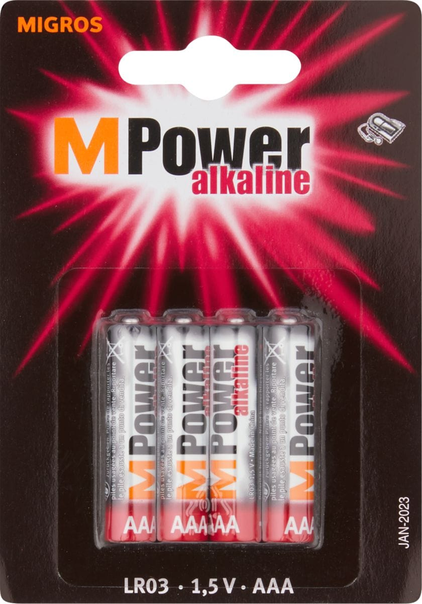 M-Power AAA / LR03 4 pièces pile