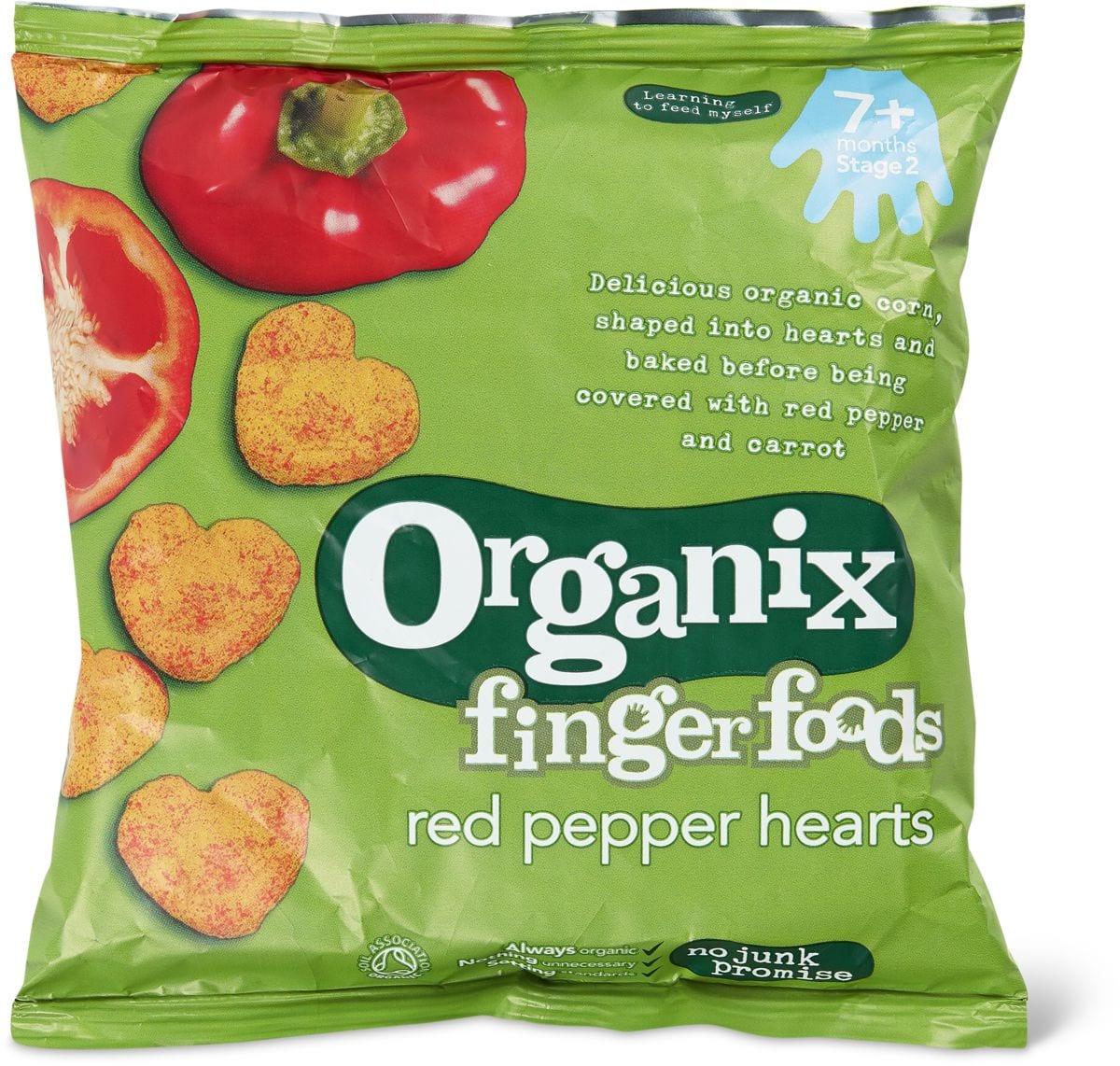 Organix cuori di peperoni rosso