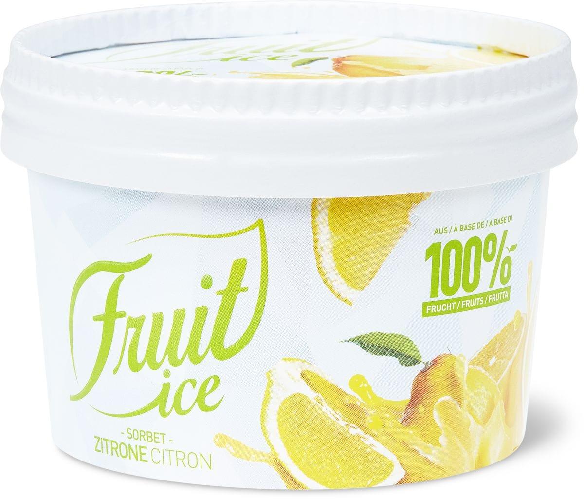 Fruit Ice Sorbet Zitrone