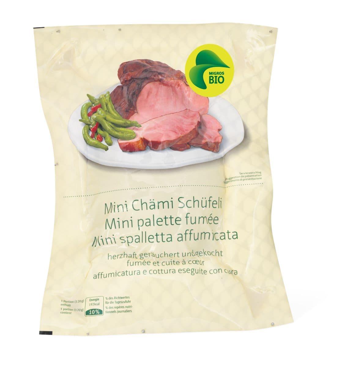 Bio-Quick-Mini-Chämi-Schüfeli und -Nierstück geräuchert, gekocht