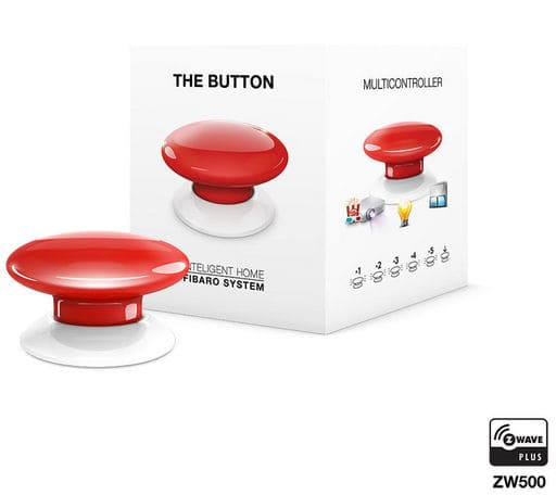 Fibaro Z-Wave Button rosso Bottone intelligente