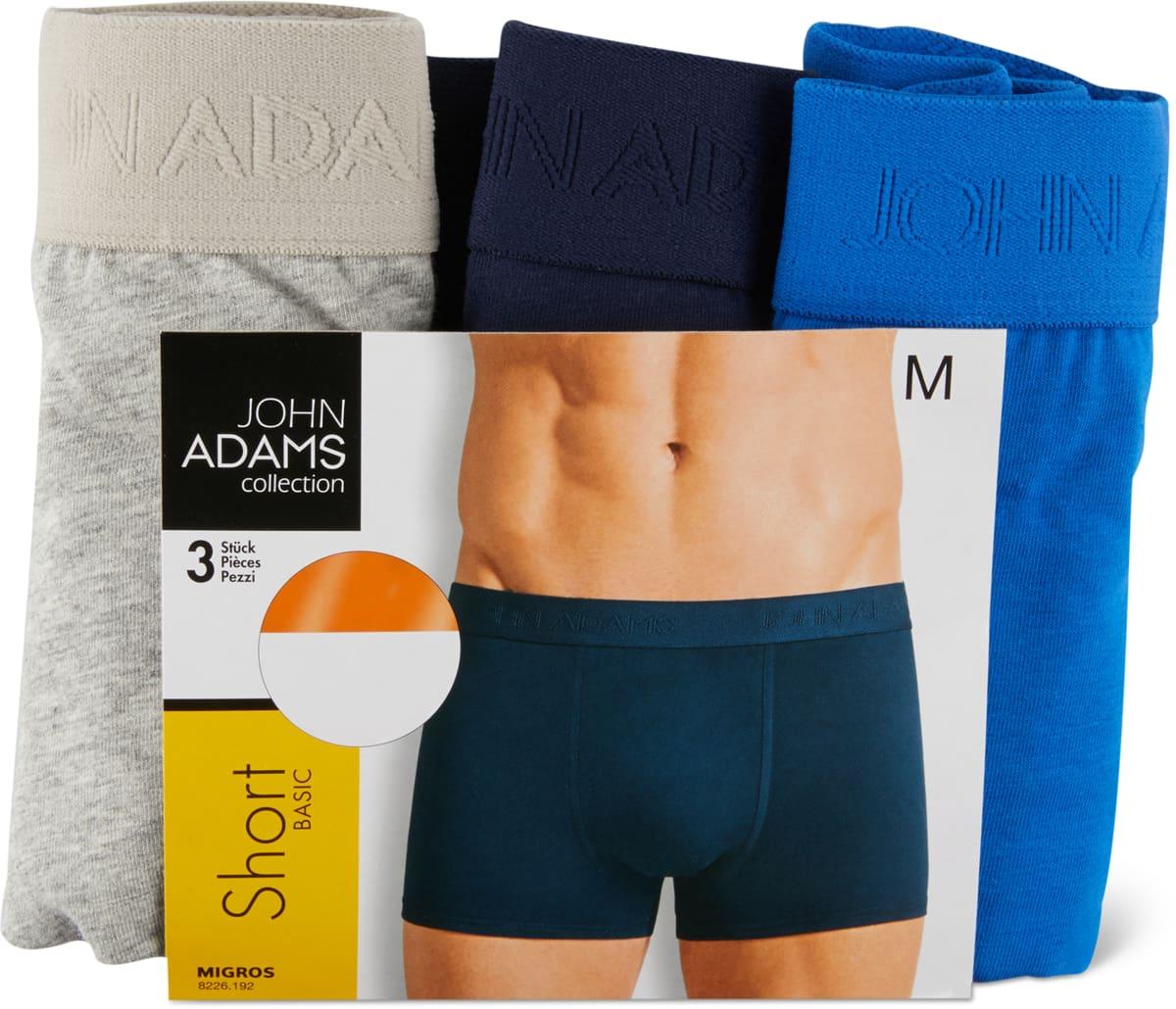 John Adams Herrenshort im 3er-Pack