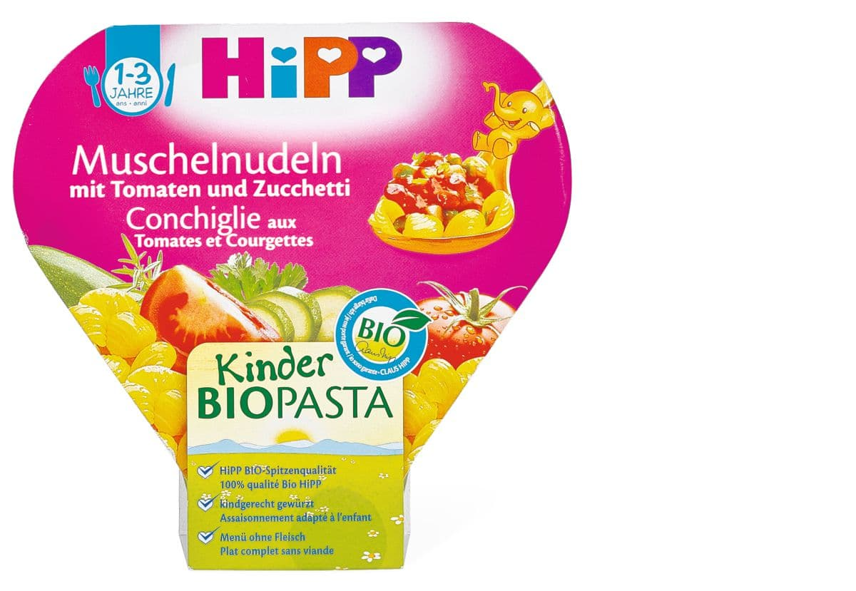 HiPP pâtes tomates courgette