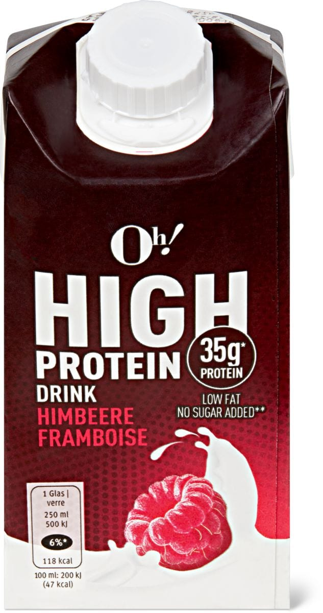 Oh! High Protein Himbeer Drink | Migros