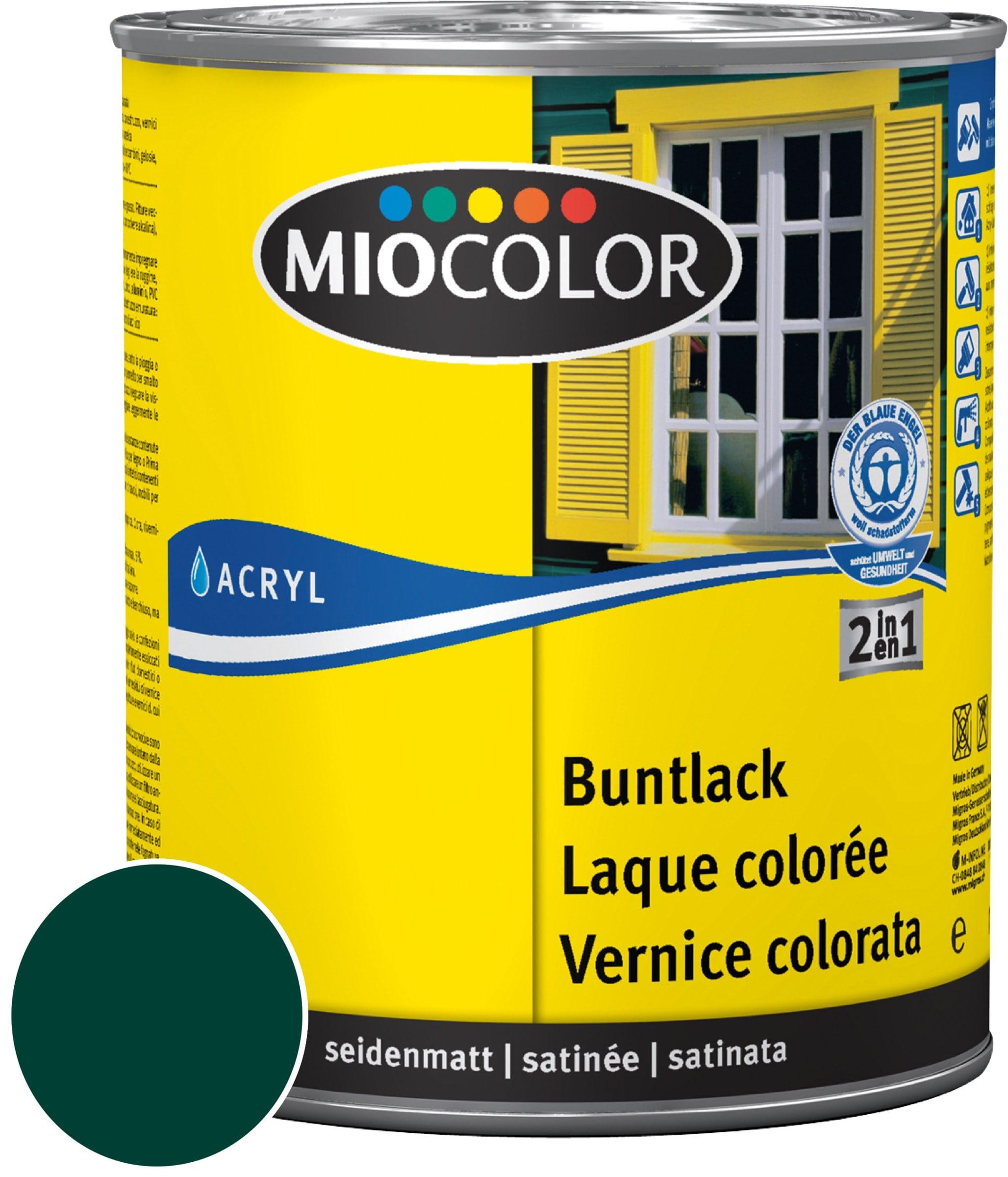 Miocolor Acryl Vernice colorata satinata Verde muschio 750 ml