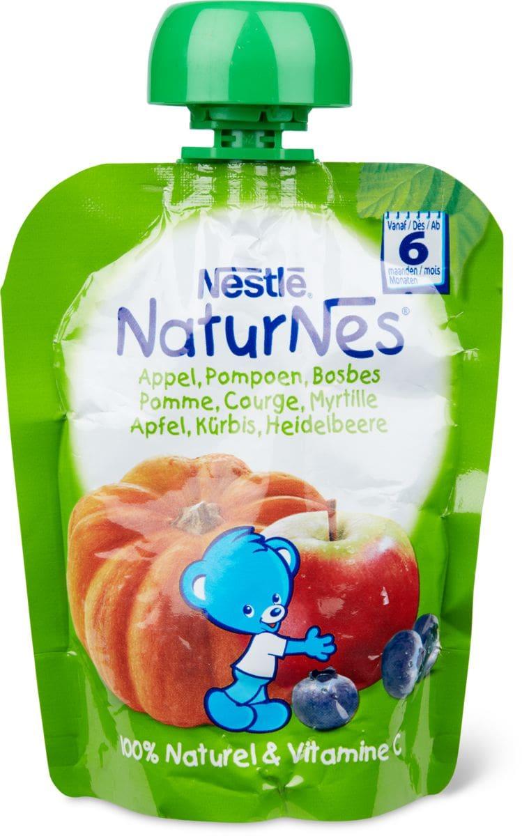 Nestlé NaturNes Quetschbeutel Apfel, Heidelbeere, Kürbis