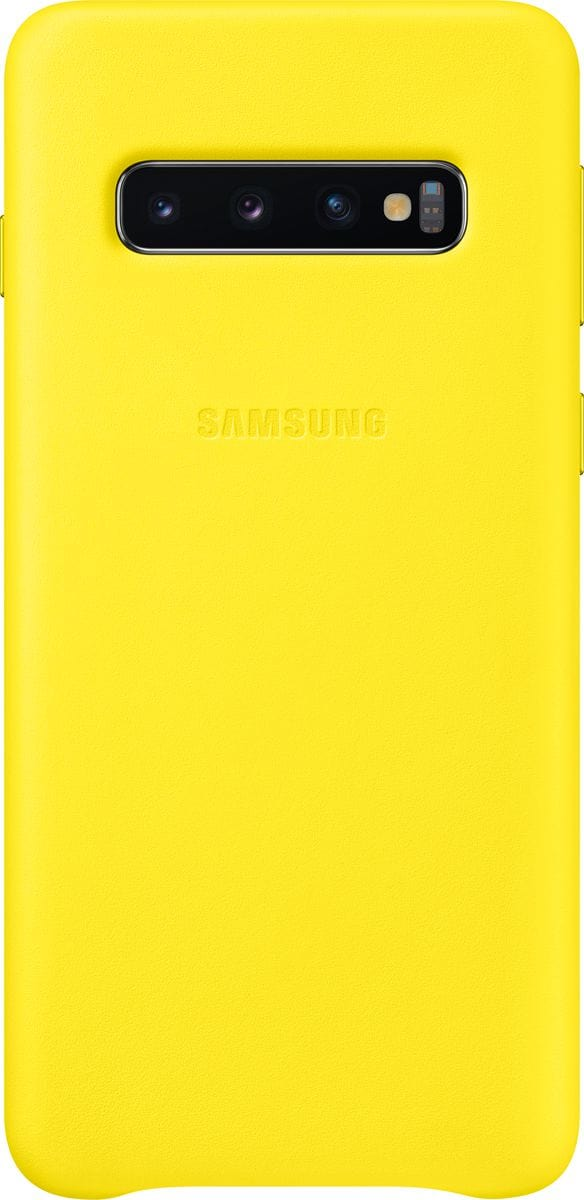 Samsung Leather Cover Yellow Custodia