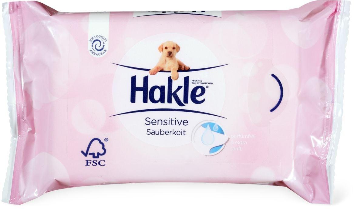 Hakle Lingettes imprégnées Propreté sensible
