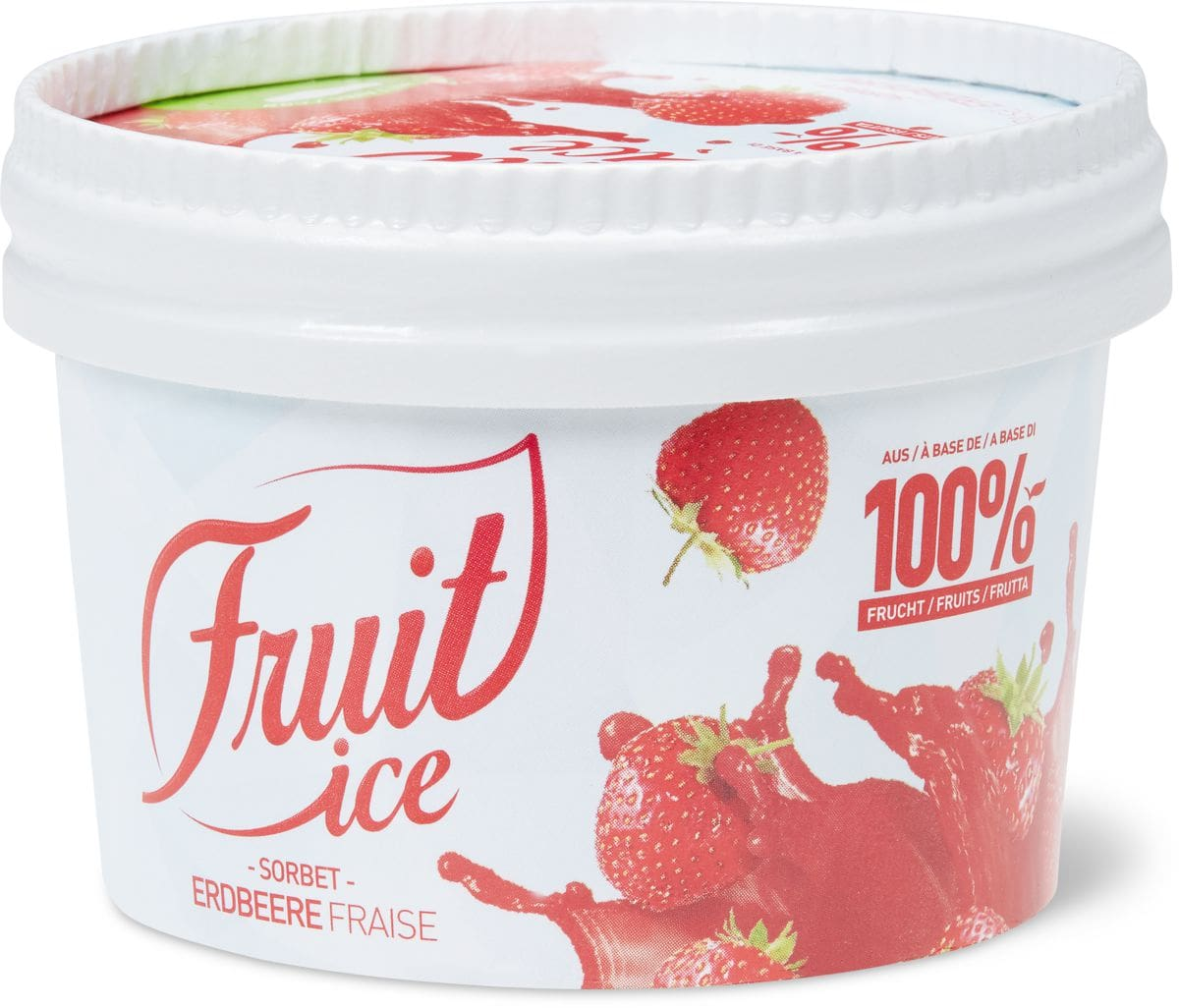 Fruit Ice Sorbet Erdbeere