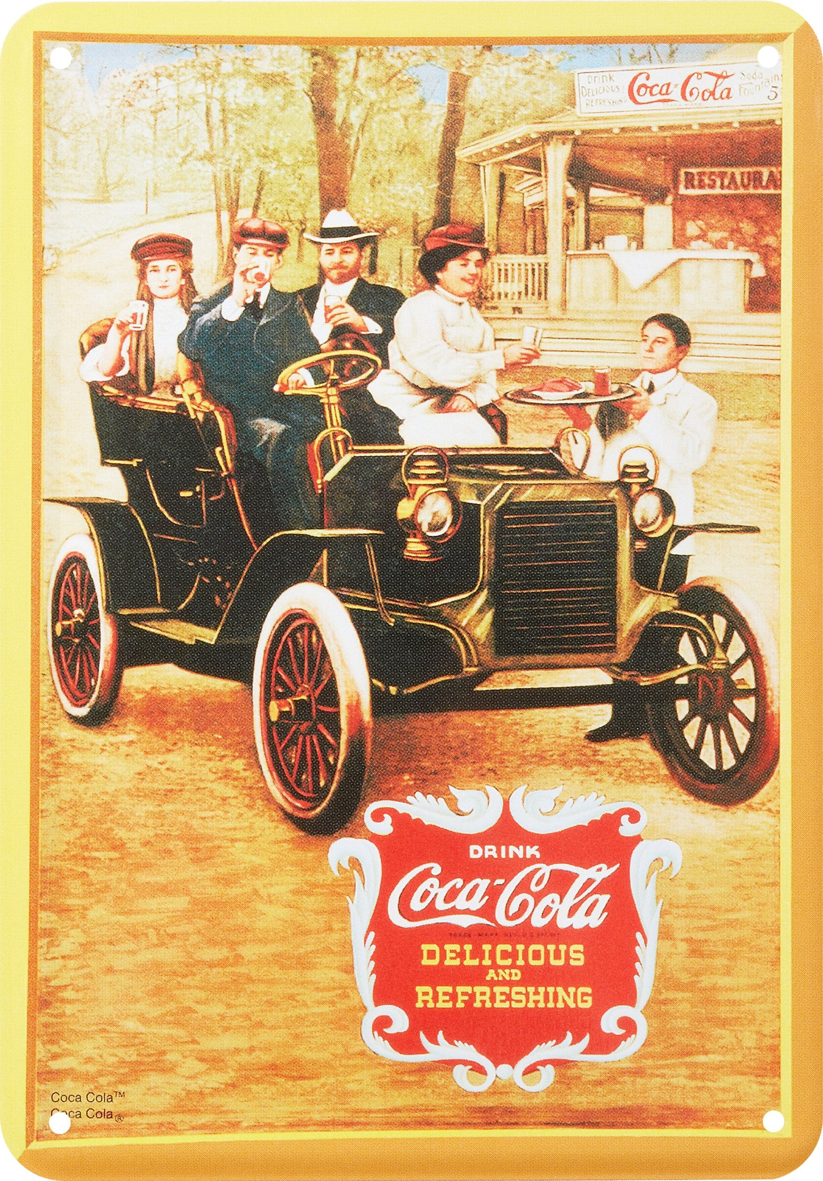 Lamiera Coca Cola Delicious and Refreshing