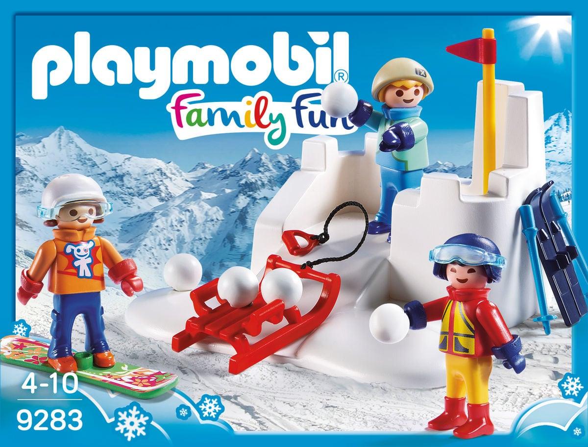 Playmobil Family Fun Battaglia a palle di neve 9283