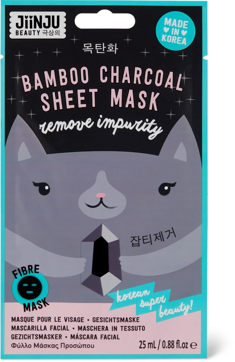 Jiinju Bamboo Charcoal Sheet Mask