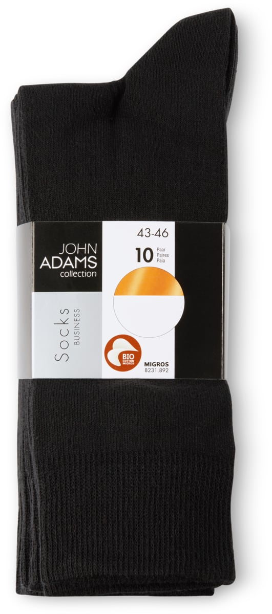 John Adams Herren-Socken im 10er-Pack, Bio Cotton