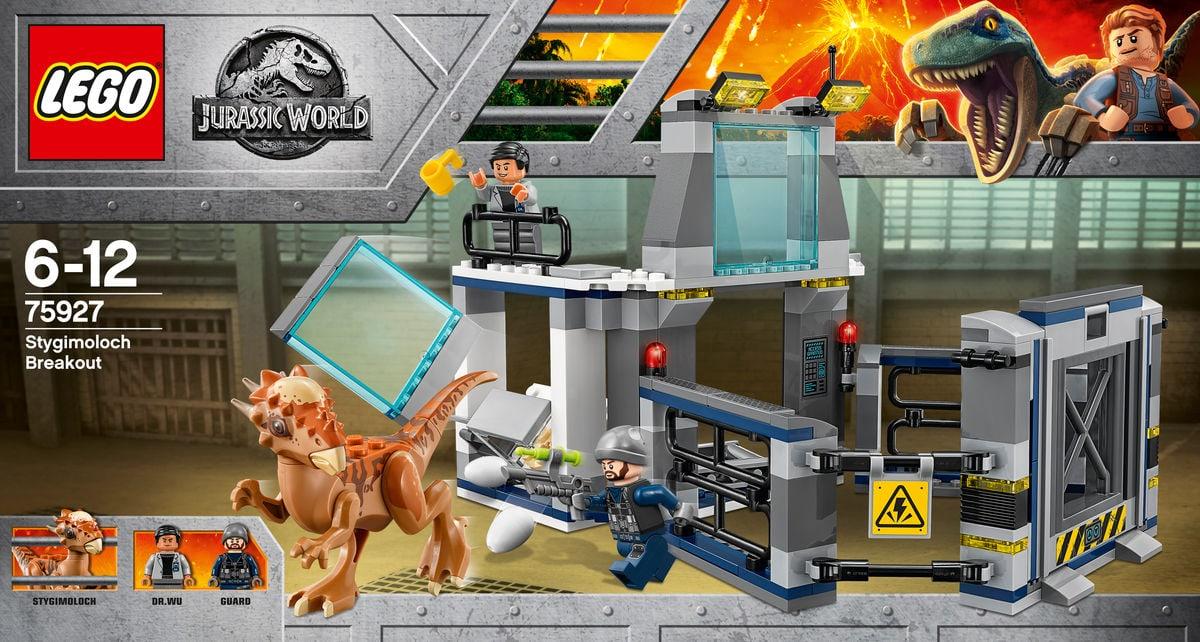 Lego Jurassic World L'evasione dello Stygimoloch 75927