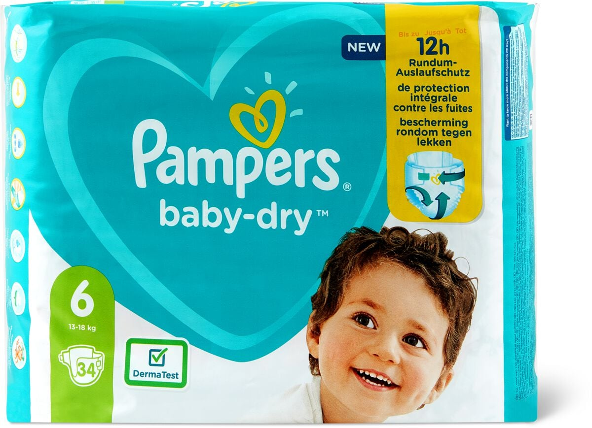 Pampers Baby Dry Gr. 6, Extra Large 13-18kg