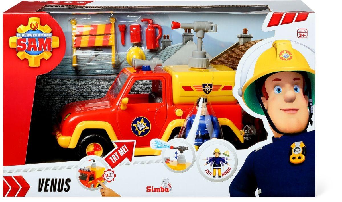 Simba Sam Feuerwehrauto Venus mit Figur Spielfahrzeug