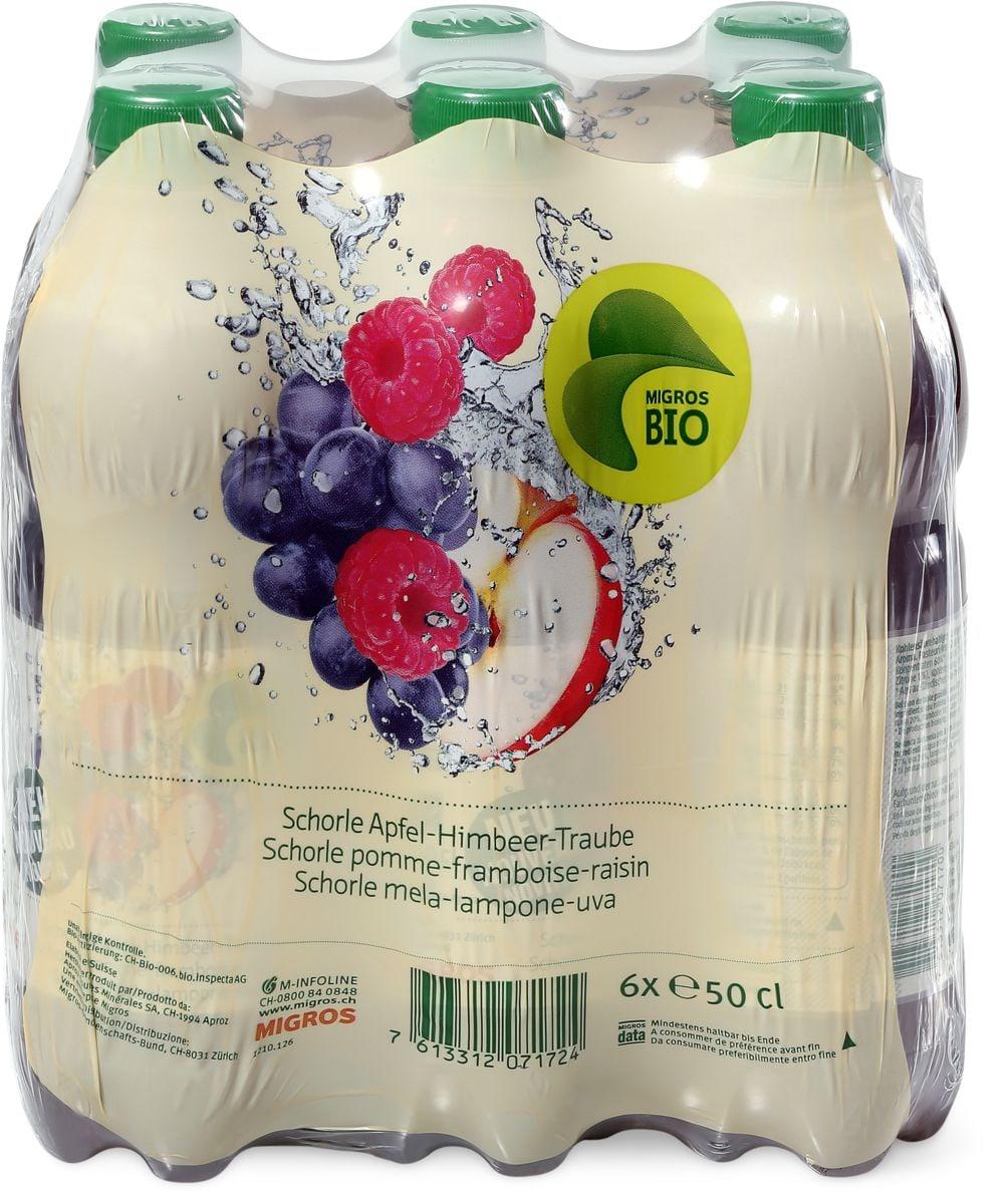 Bio Schorle pomme-Framboise-raisin