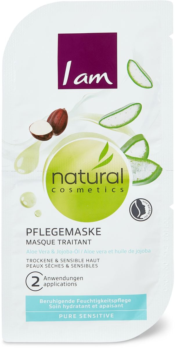 I am Natural Cosmetics pure sensitive maschera