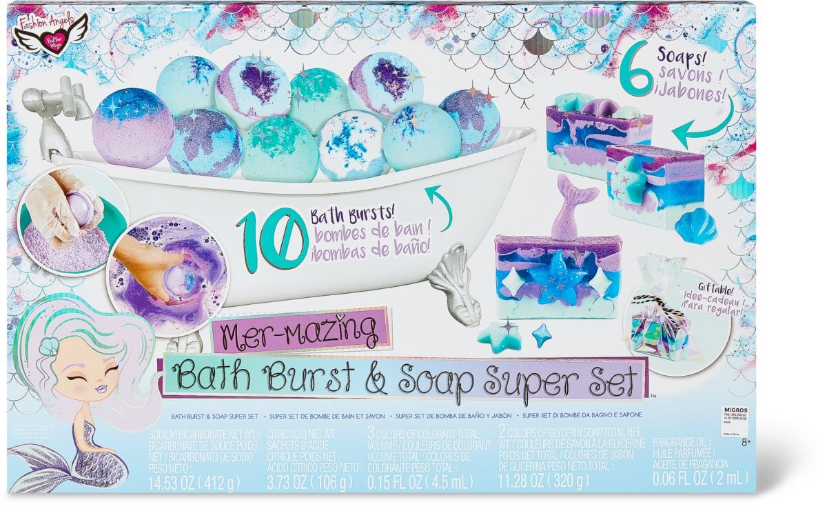 Superset di bombe per il bagno e sapone Set di bricolage