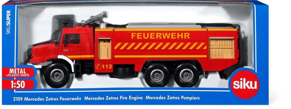 Siku Mercedes Zetros pompieri 1:50 Macchinine da collezione