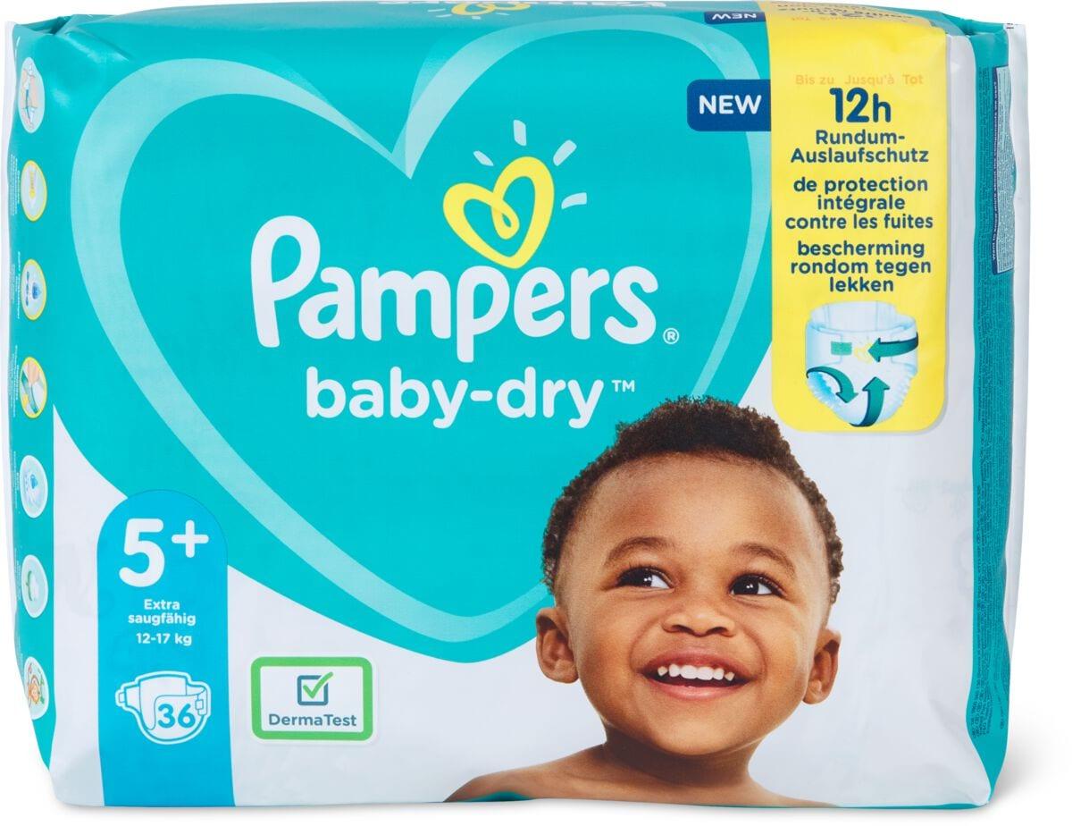 Pampers Baby Dry Gr. 5+, Junior Plus 12-17kg