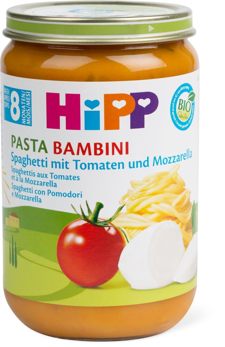 Bio HiPP Spaghetti Tomaten Mozzarella