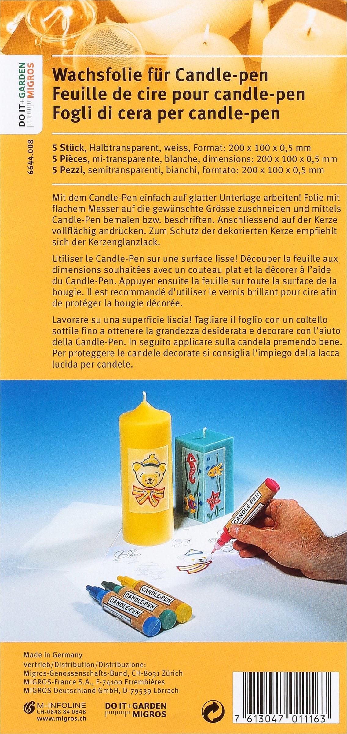 Exagon DOIT+GARDEN Wachsfolie für Candle-pen 5Stk