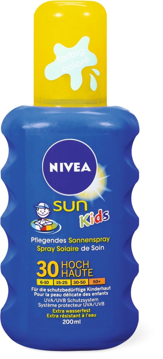 Nivea Sun FPS 30 kids spray coloré