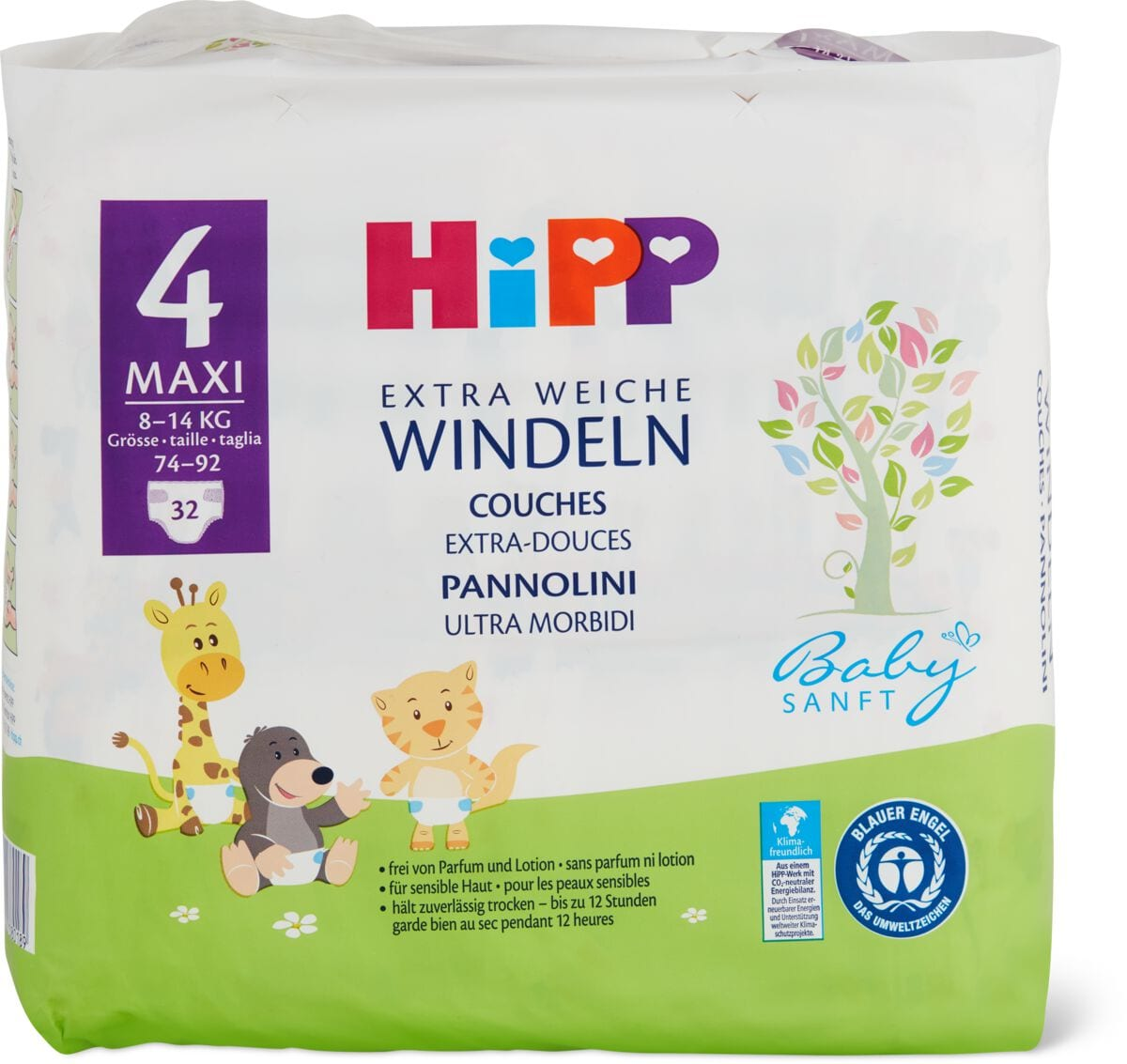 Hipp Babysanft Windeln Maxi 4