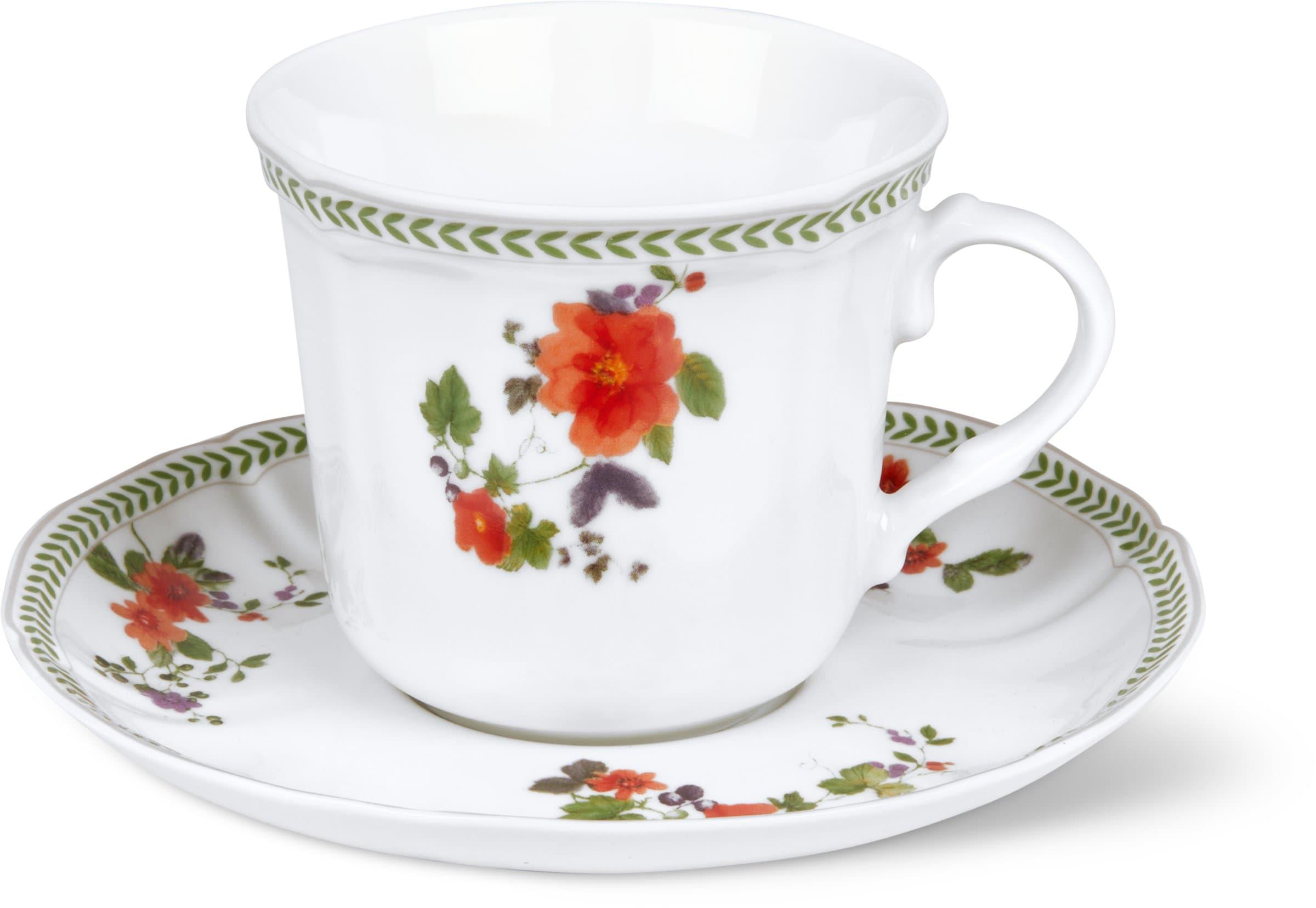 Cucina & Tavola LANDHAUS Kaffeetasse mit Unterteller