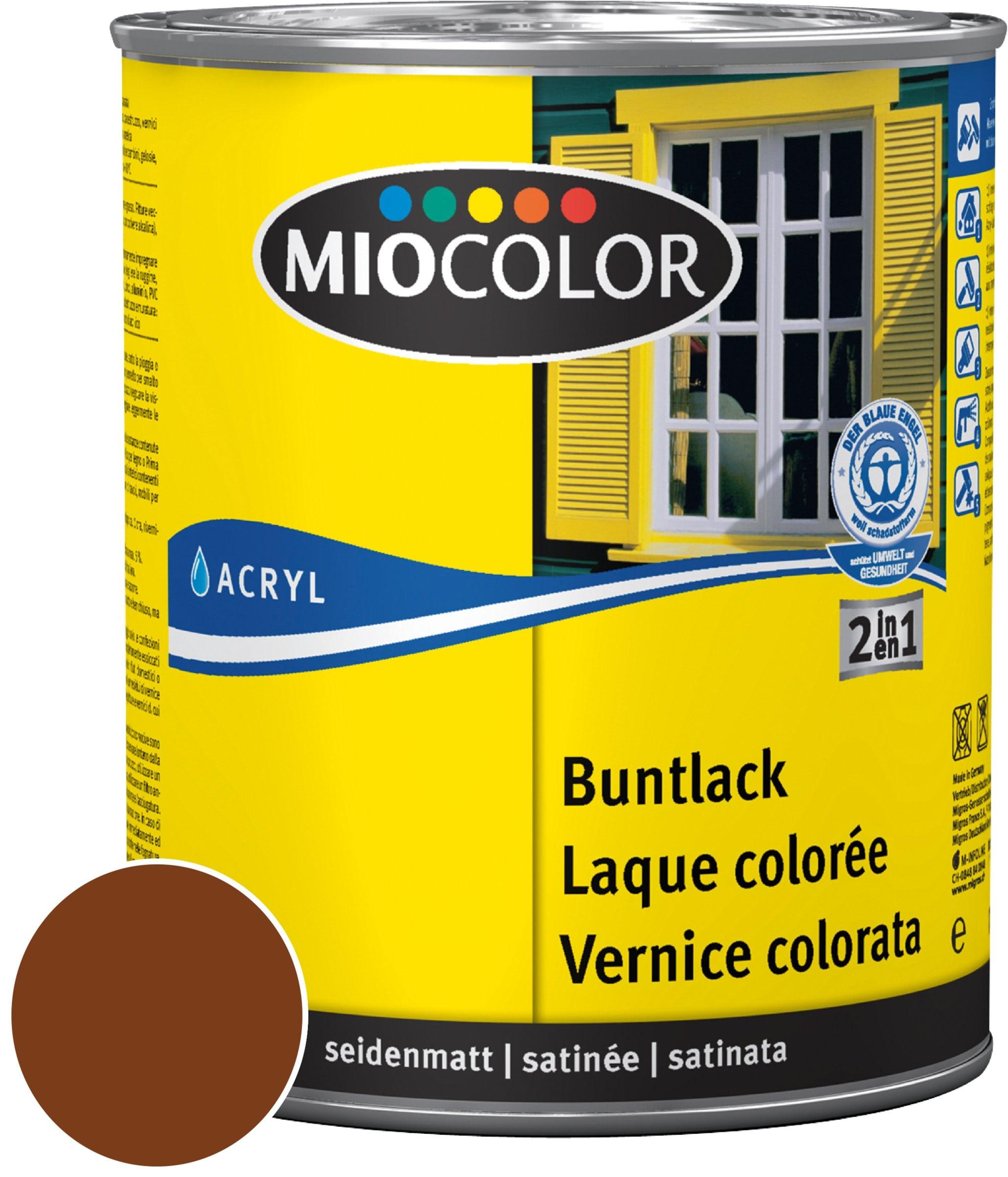 Miocolor Acryl Vernice colorata satinata Marrone noce 125 ml
