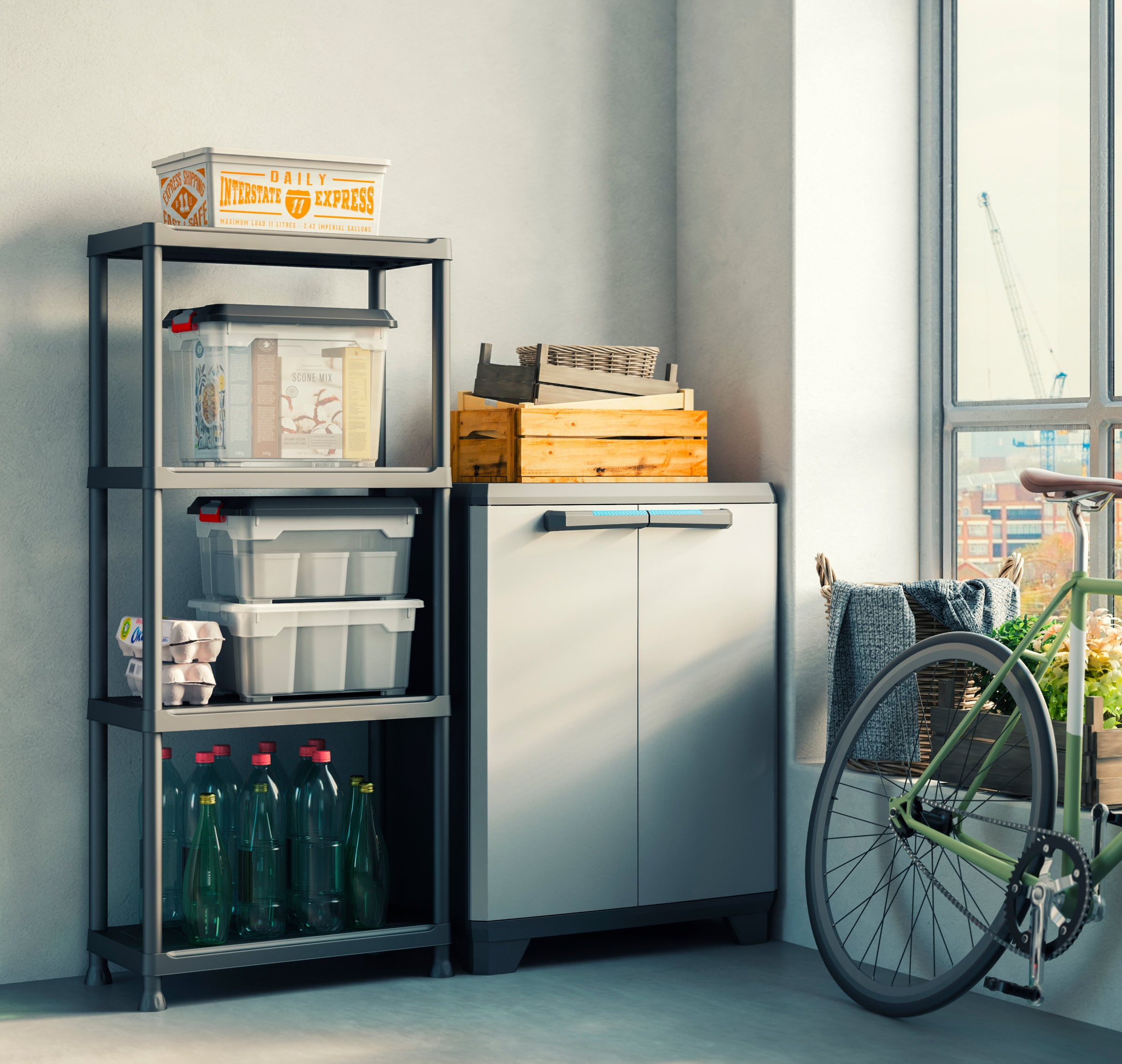 KIS Kunststoffschrank Linear halbhoch | Migipedia