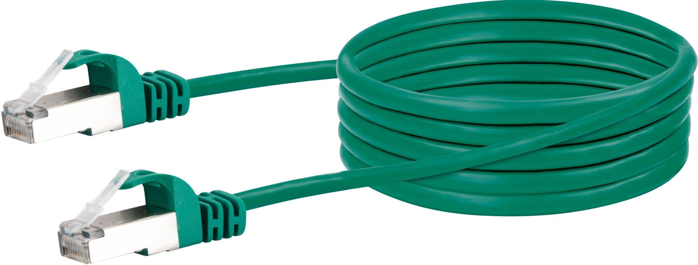 Schwaiger Cable de réseau S/FTP Cat. 6 1m vert