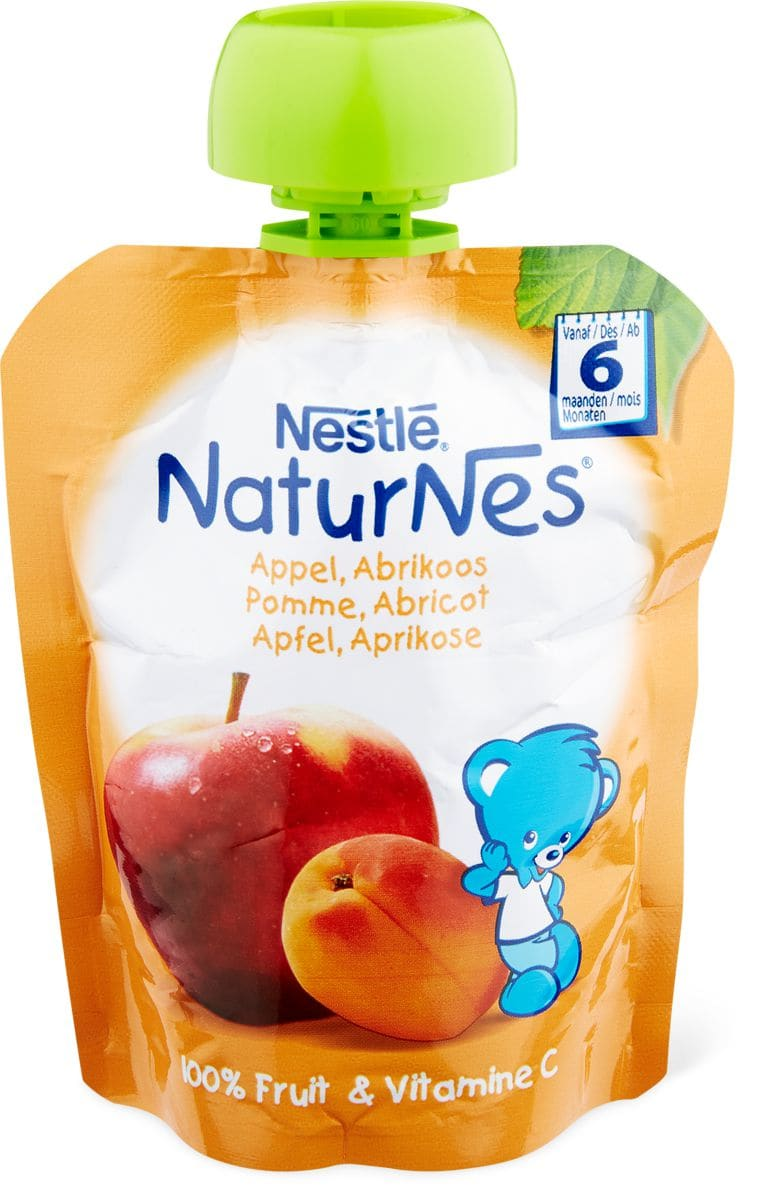 Nestlé NaturNes Quetschbeutel Apfel, Aprikose