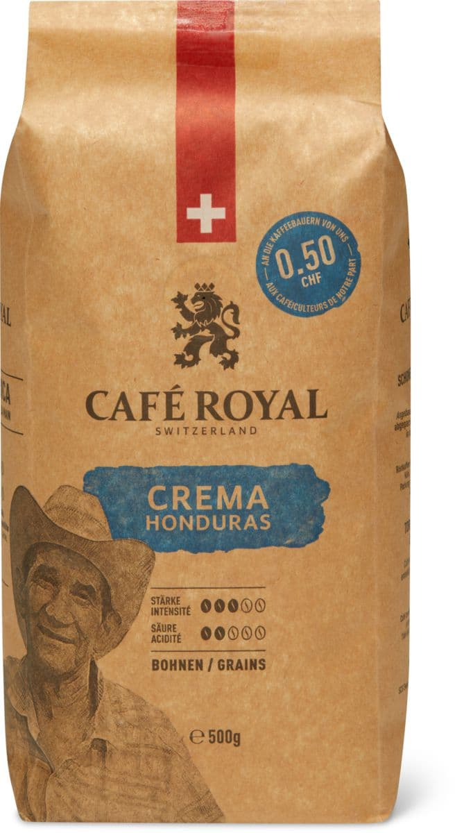 Café Royal Crema Honduras in Bohnen