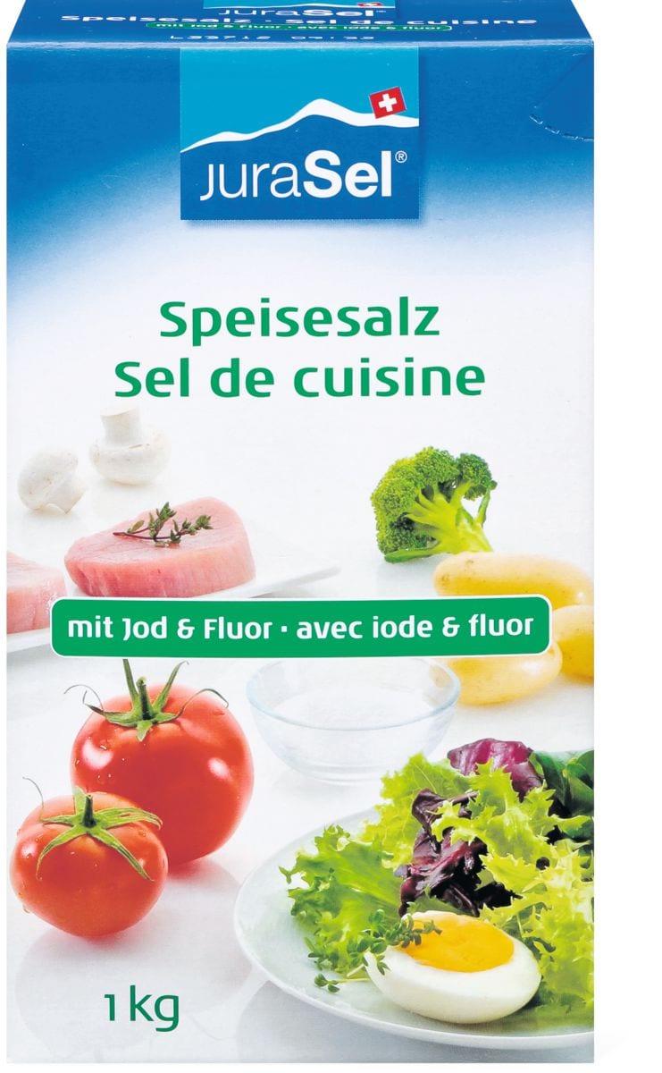 JuraSel Sel cuisine avec iode et fluor
