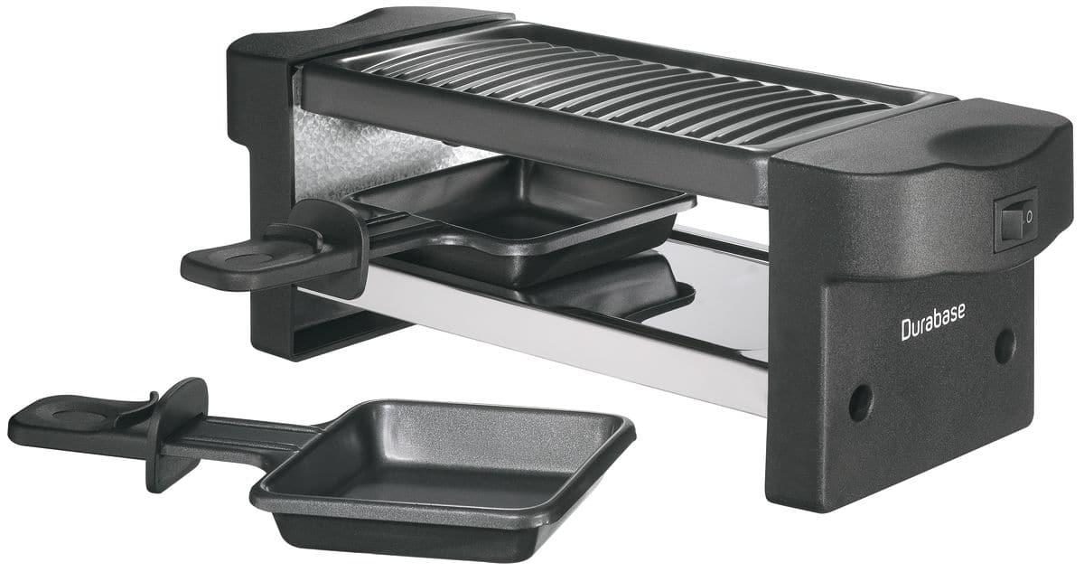 durabase pour deux appareil raclette et grill migros. Black Bedroom Furniture Sets. Home Design Ideas