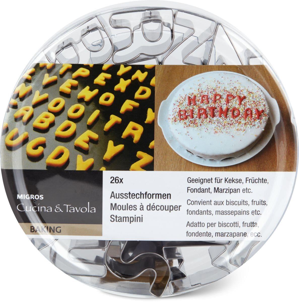 Cucina & Tavola Ausstechformen Buchstaben