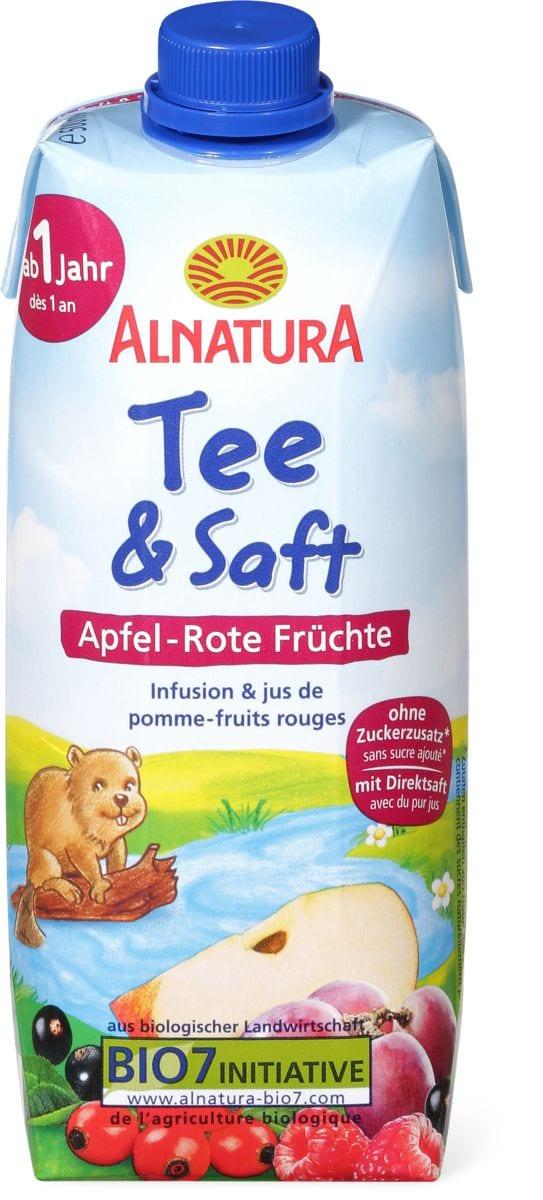 Alnatura Infusion&jus de pomme-fruits rouges