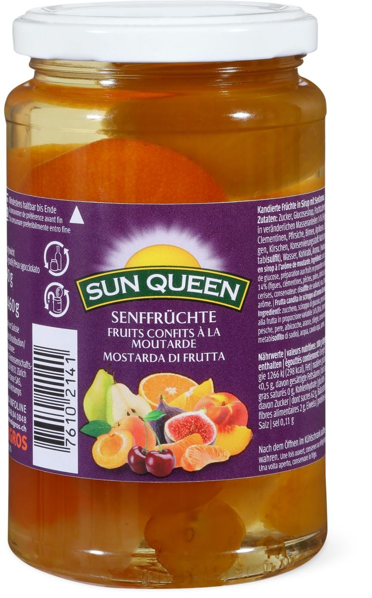 sun queen fruits sirop de moutarde migros. Black Bedroom Furniture Sets. Home Design Ideas