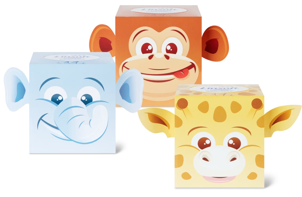 Linsoft Kosmetiktücher Würfel im 3er-Pack, 3er-Pack