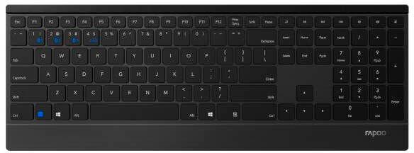Rapoo E9500M Multimode Tastatur