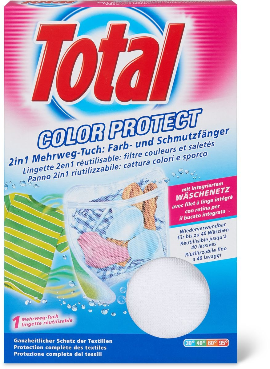 Total Lingette réutilisable Color Protect