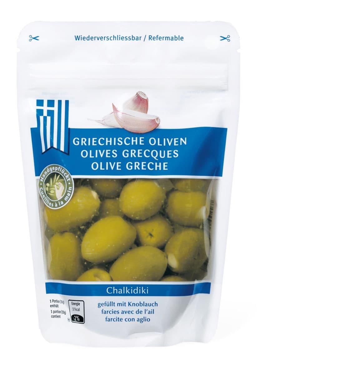 Olive greche farcite all'aglio