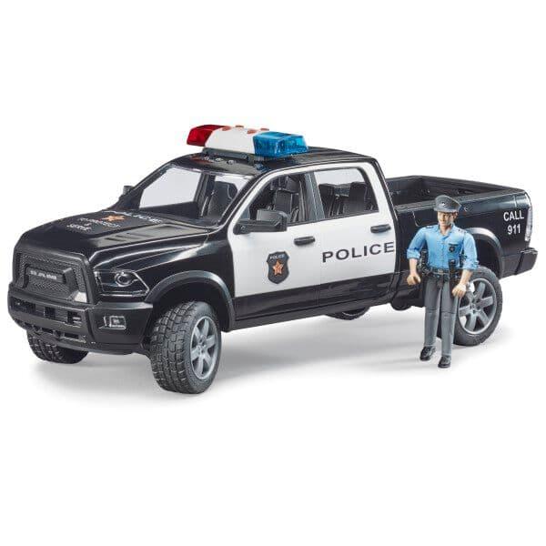 Bruder Auto di polizia RAM 2500 con poliziotto Macchinine