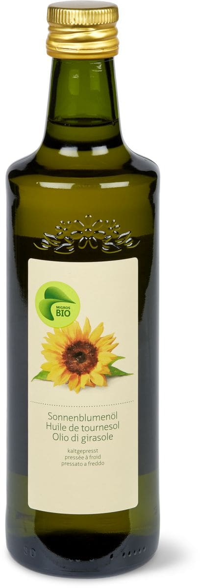 Bio huile de tournesol, pressée froid