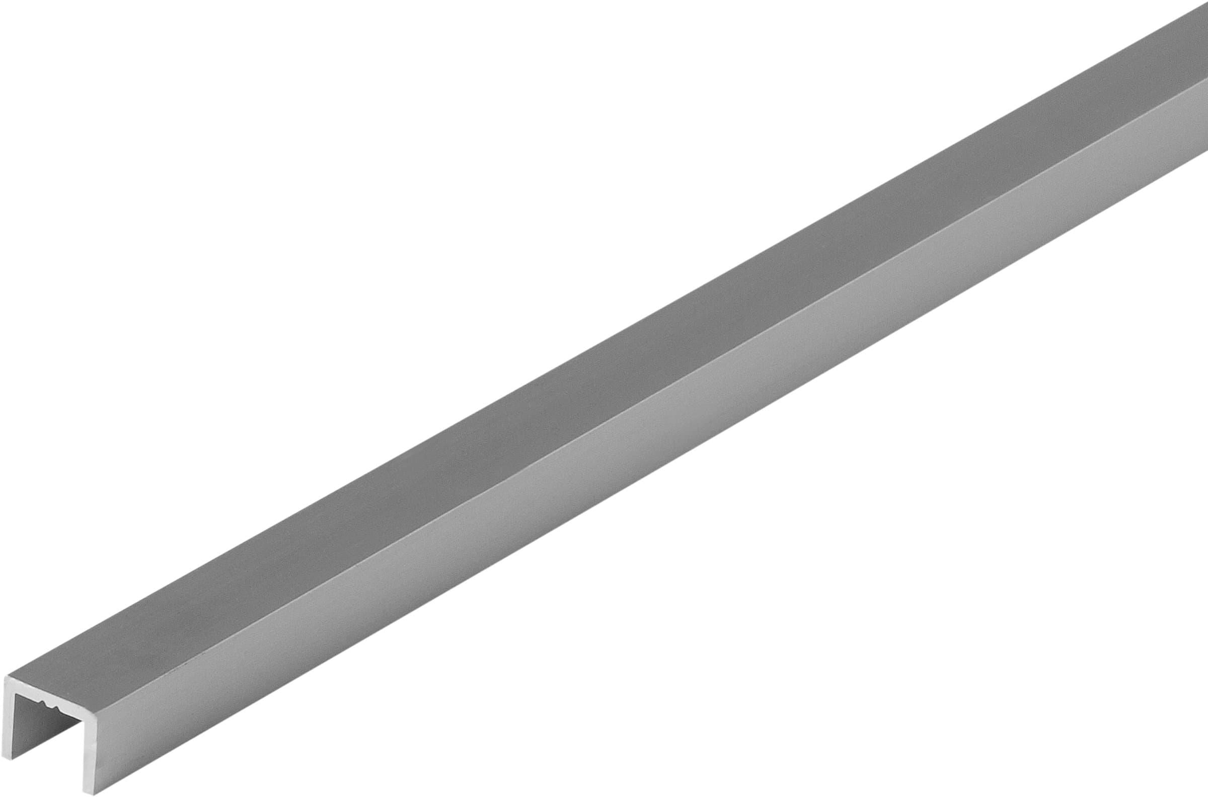 alfer U-Profilo 8 x 10.1 x 1.3 argento 1 m