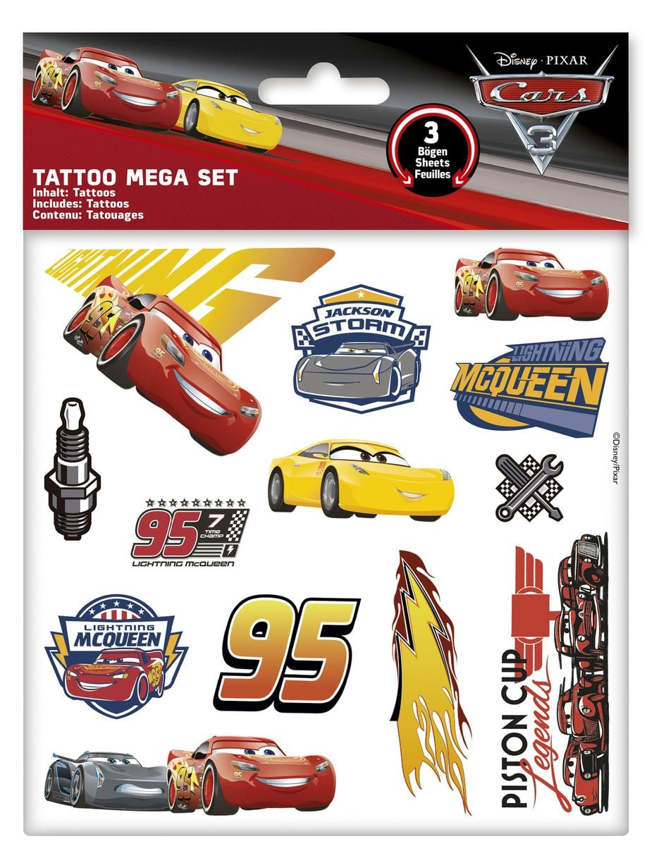 Cars Tattoo Mega Set