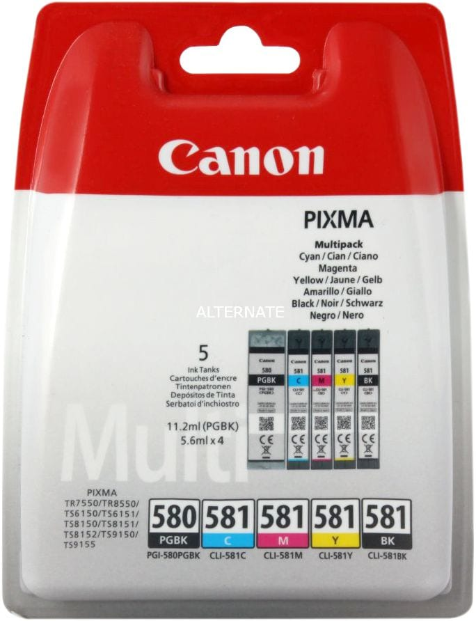Canon PGI-580/581 Multipack Cartuccia d'inchiostro